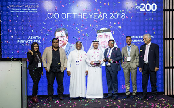Ashith Piriyattiath and Ahmed Ebrahim AlAhmad Crowned as CIOs of the Year 2018 at The CIO 200 Awards