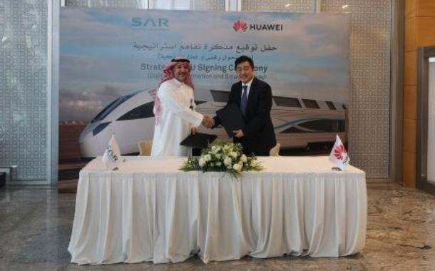 SAR and Huawei sign MoU to develop smart railway in Saudi Arabia