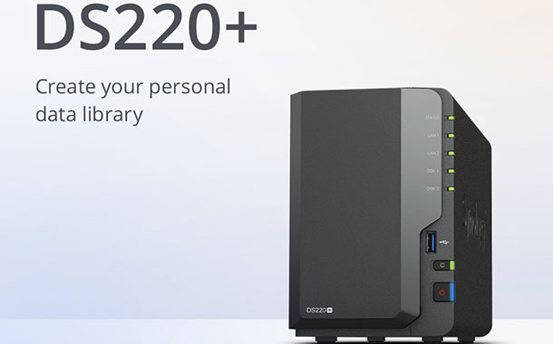 The Synology DiskStation DS220+.