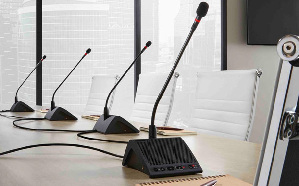 Shure adds portable units to MXC Digital Conference System