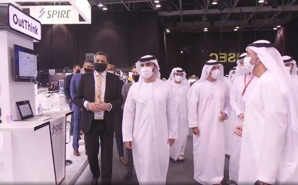 HH Sheikh Mansoor bin Mohammed bin Rashid Al Maktoum visits Spire Solutions' stand at GISEC 2021