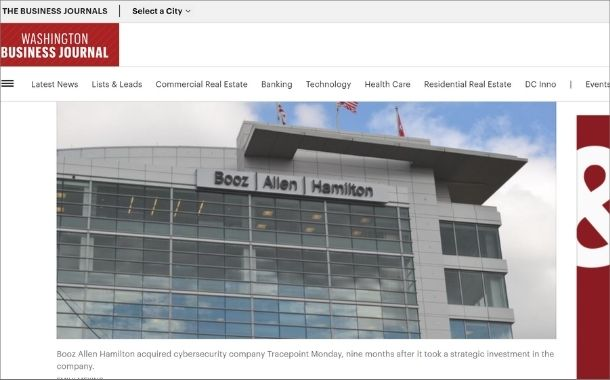 Booz Allen acquires Tracepoint after previous purchase of Liberty IT Solutions